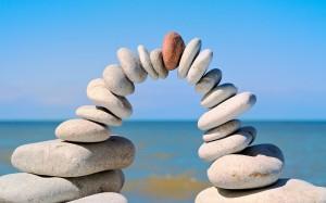 equilibrio puente piedras