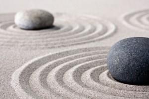 piedras y circulos zen